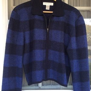 Jones New York 100% Merino Wool Cardigan Sweater !
